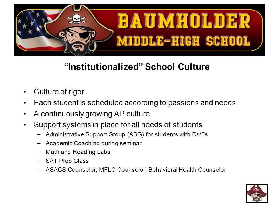 Institutionalized School Culture