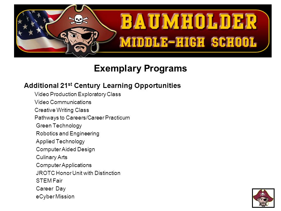 Exemplary Programs Additional 21st Century Learning Opportunities