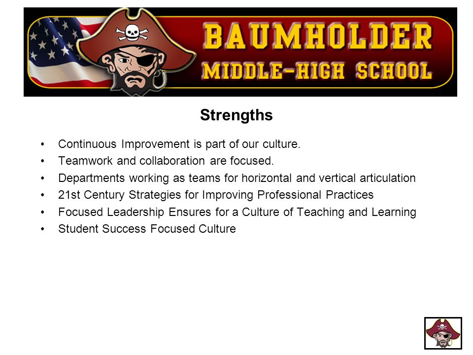 Strengths Continuous Improvement is part of our culture.