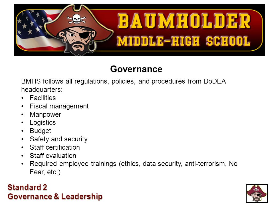 Governance Standard 2 Governance & Leadership