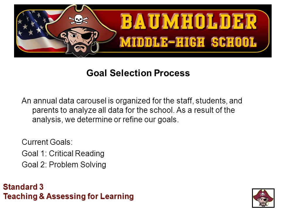 Goal Selection Process