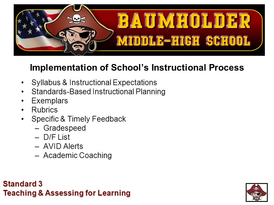 Implementation of School's Instructional Process