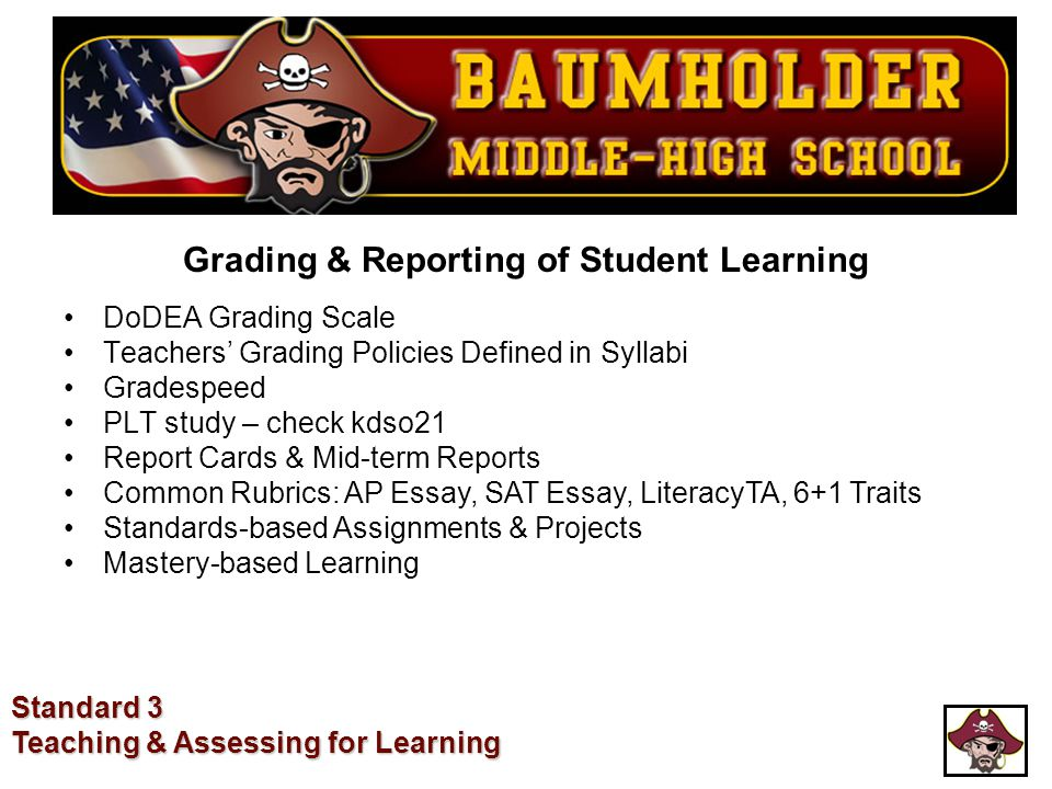 Grading & Reporting of Student Learning