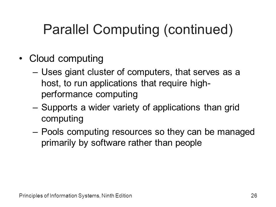 Parallel Computing (continued)