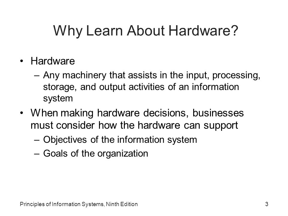 Why Learn About Hardware