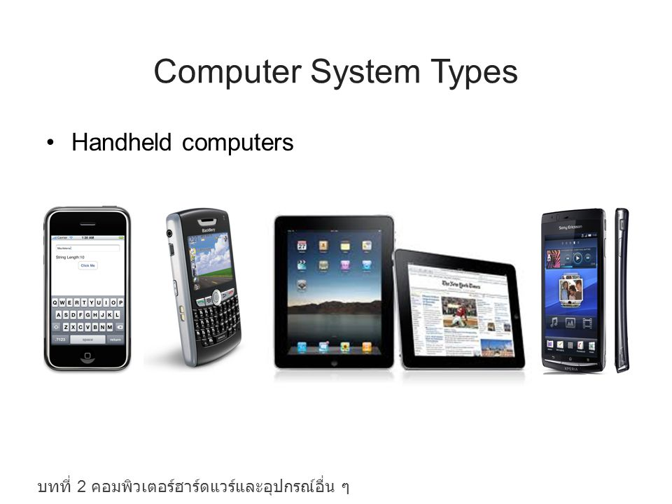 Computer System Types Handheld computers