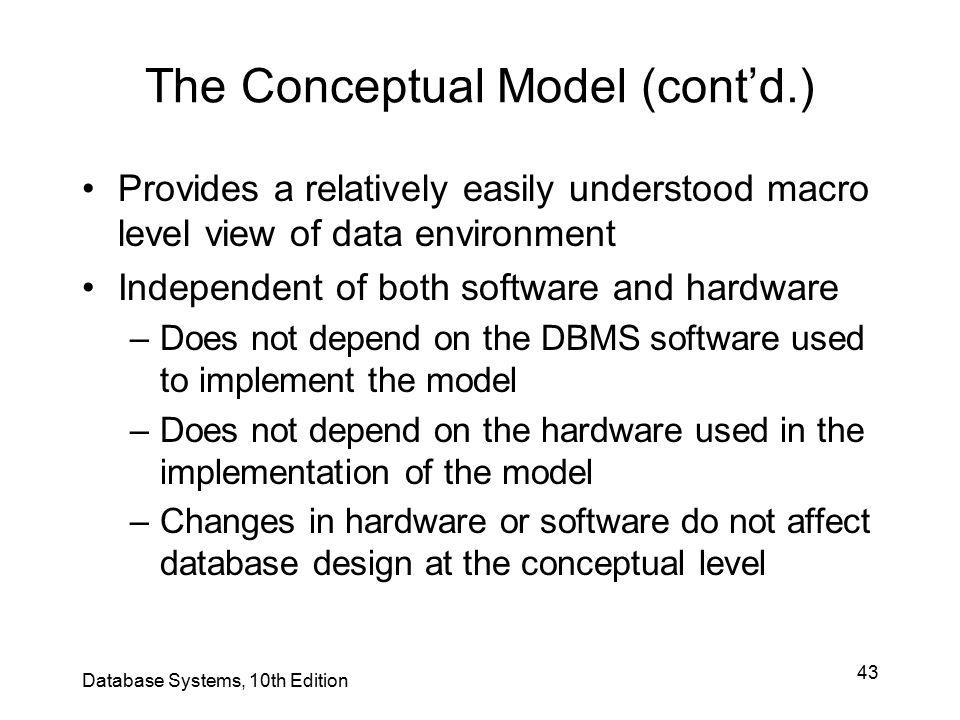 The Conceptual Model (cont'd.)