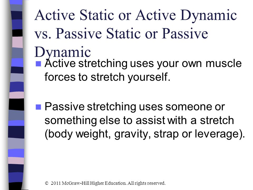Active Static or Active Dynamic vs. Passive Static or Passive Dynamic