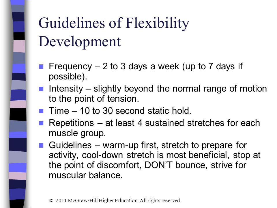 Guidelines of Flexibility Development