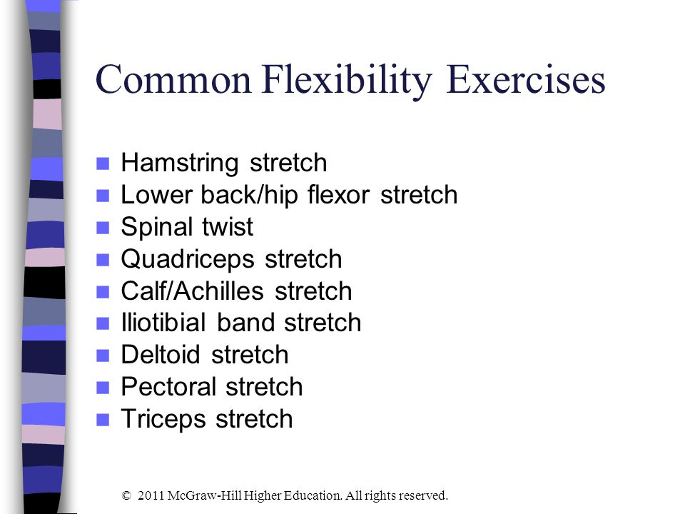 Common Flexibility Exercises