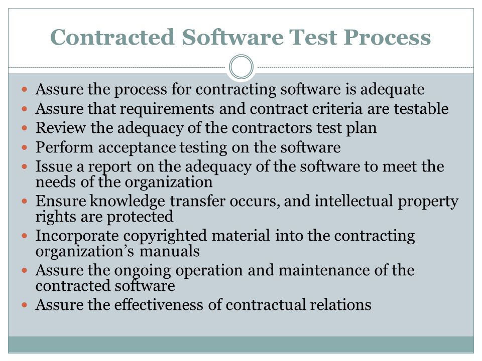 Contracted Software Test Process