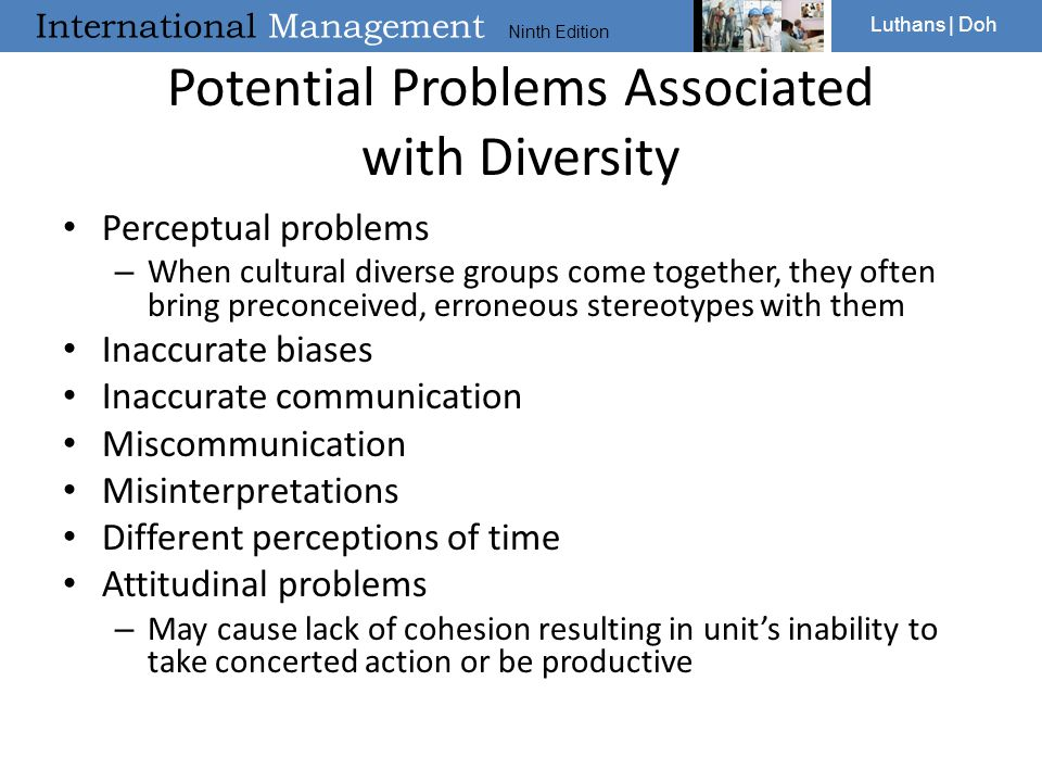 Potential Problems Associated with Diversity