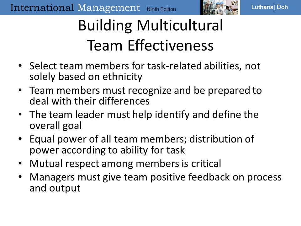 Building Multicultural Team Effectiveness
