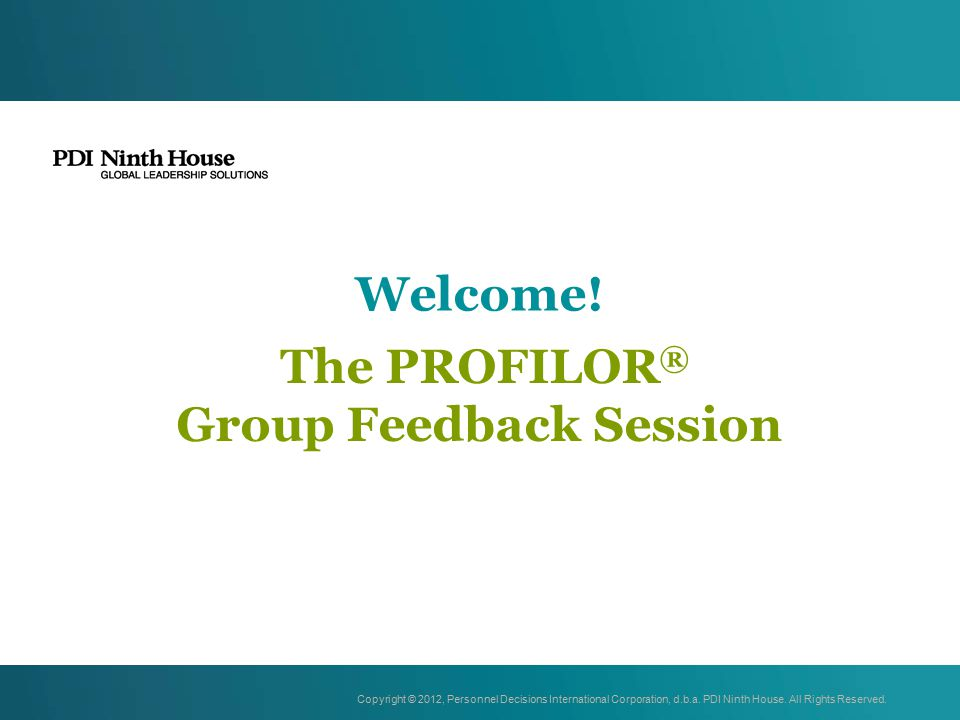 The PROFILOR® Group Feedback Session