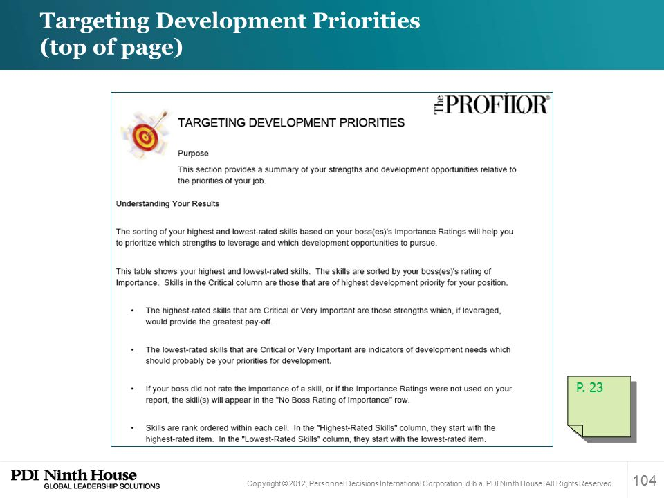 Targeting Development Priorities (top of page)