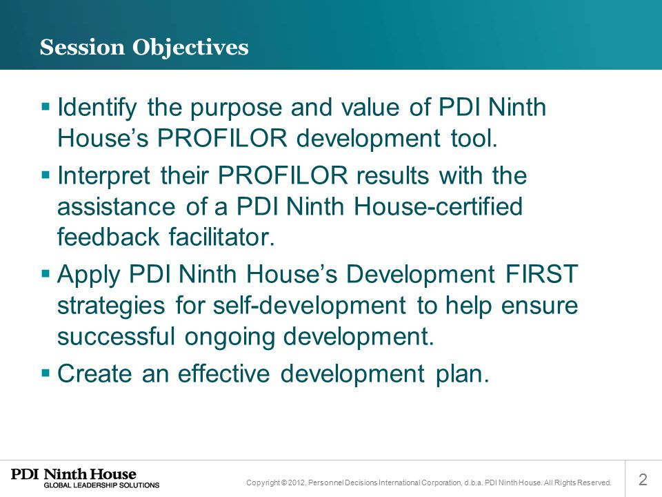 Create an effective development plan.