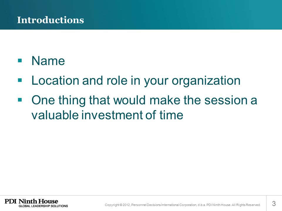Location and role in your organization