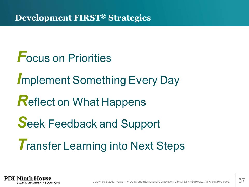Development FIRST® Strategies