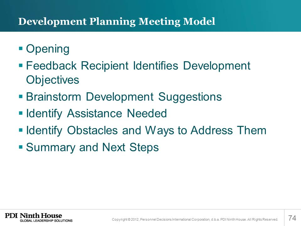 Development Planning Meeting Model