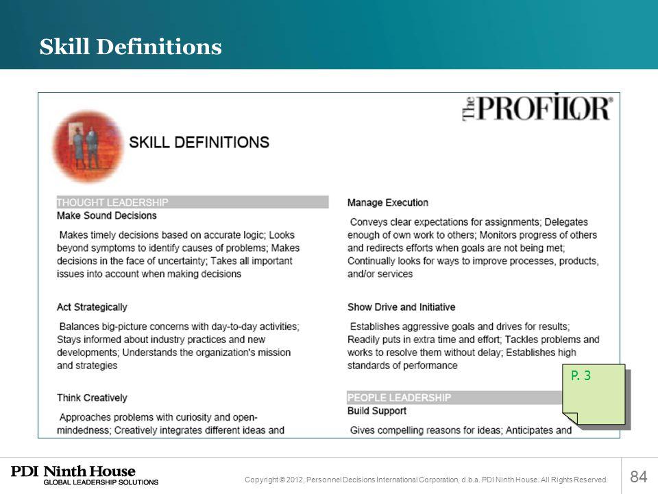 Skill Definitions P. 3