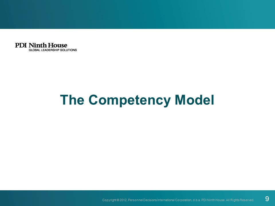 The Competency Model