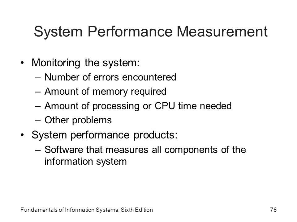 System Performance Measurement