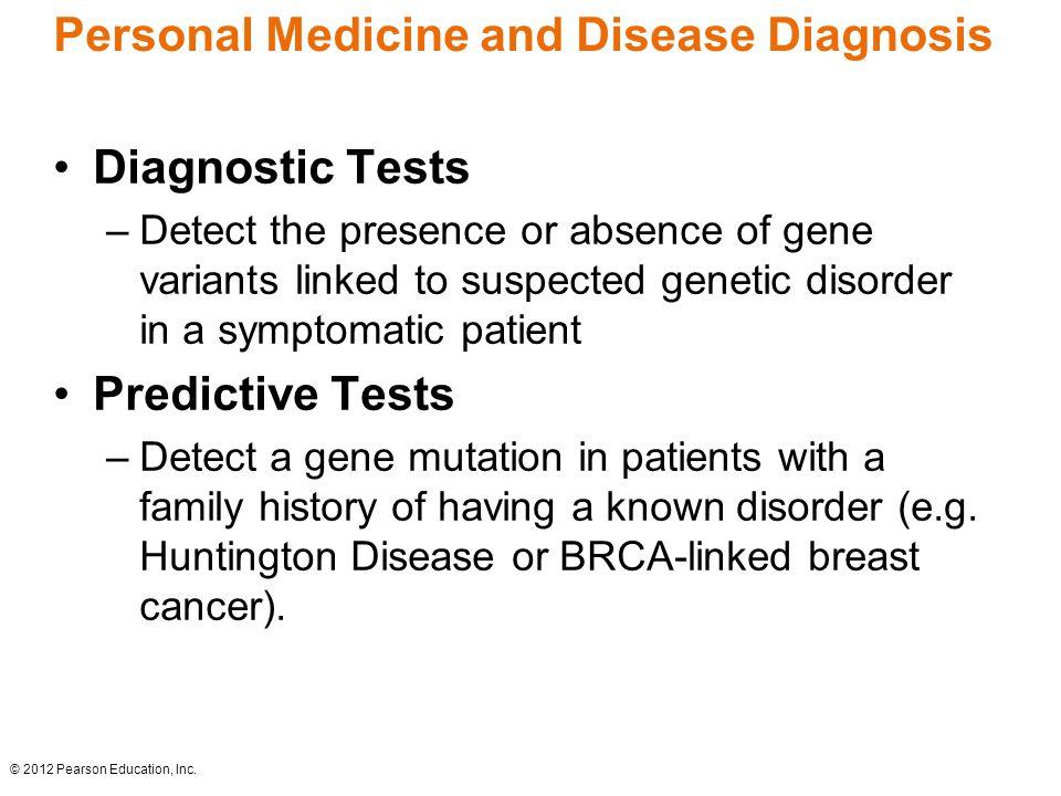 Personal Medicine and Disease Diagnosis