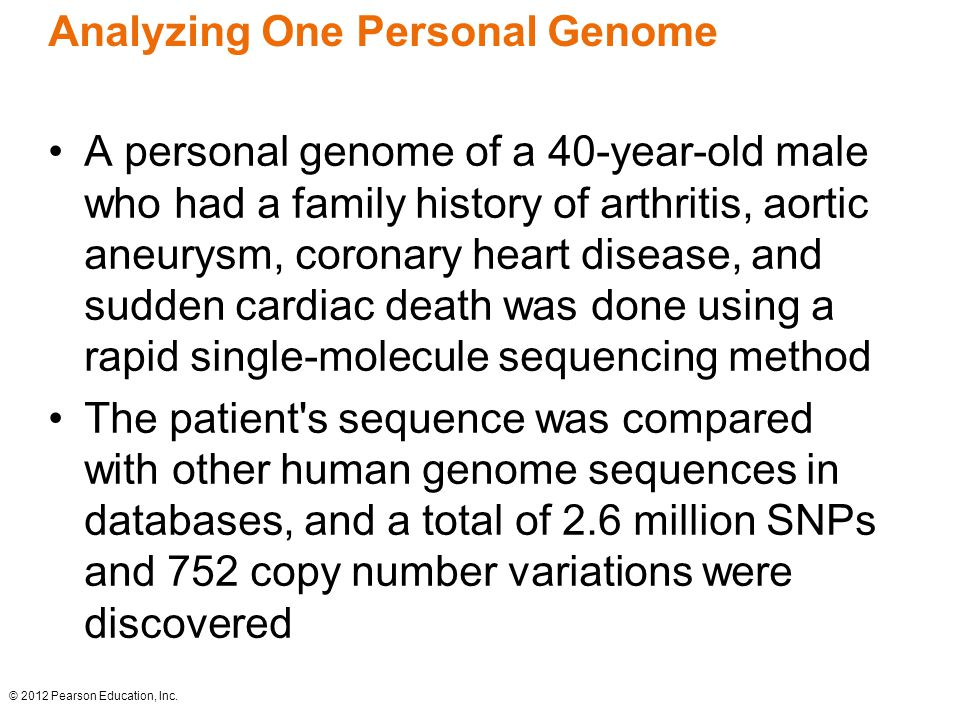 Analyzing One Personal Genome
