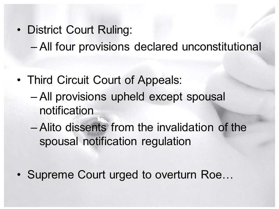 District Court Ruling: