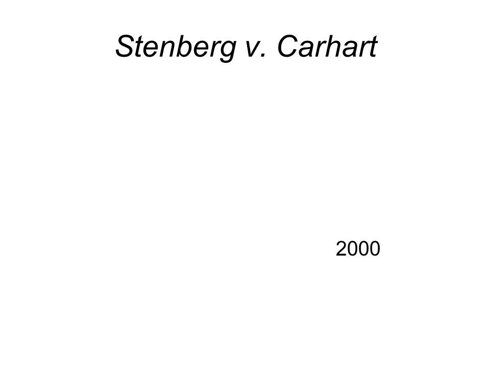 Stenberg v. Carhart 2000