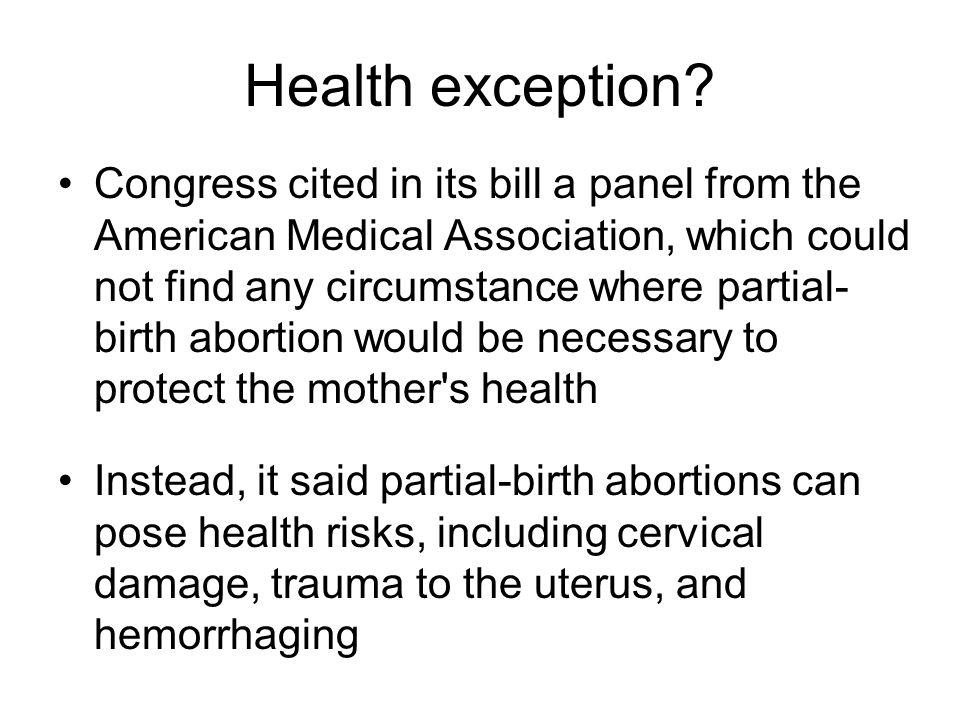 Health exception