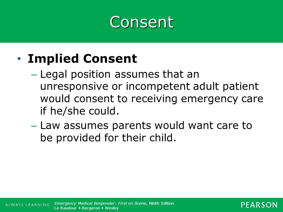 Consent Implied Consent