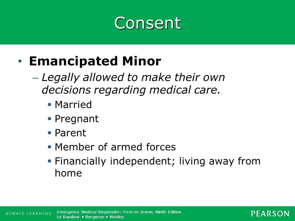Consent Emancipated Minor