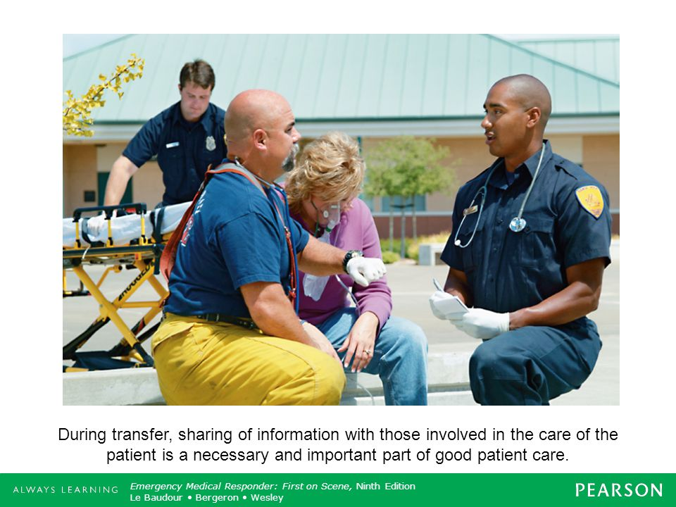 During transfer, sharing of information with those involved in the care of the patient is a necessary and important part of good patient care.