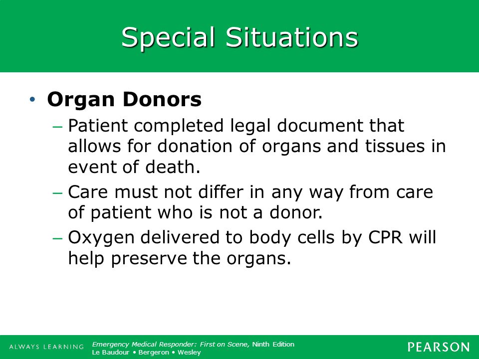 Special Situations Organ Donors