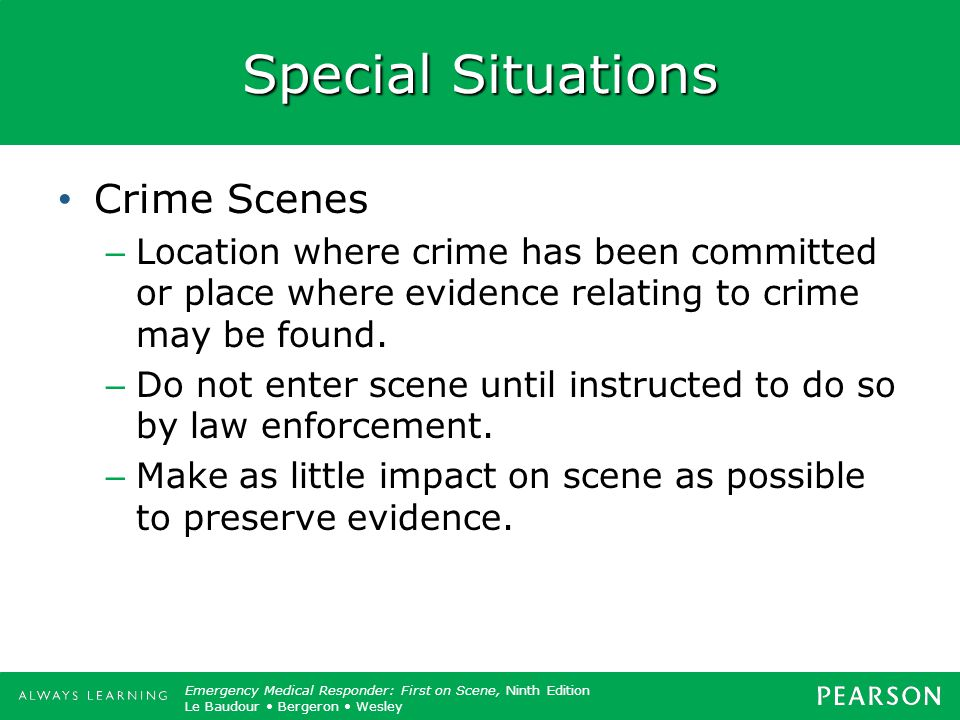 Special Situations Crime Scenes