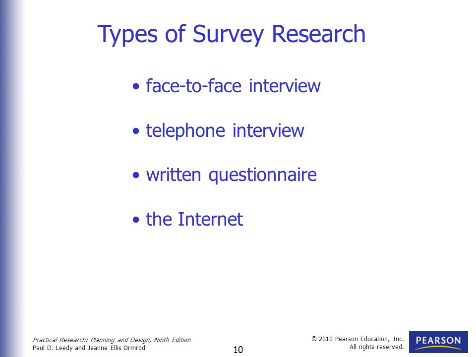 Types of Survey Research