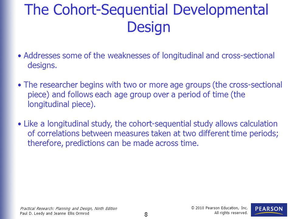 The Cohort-Sequential Developmental