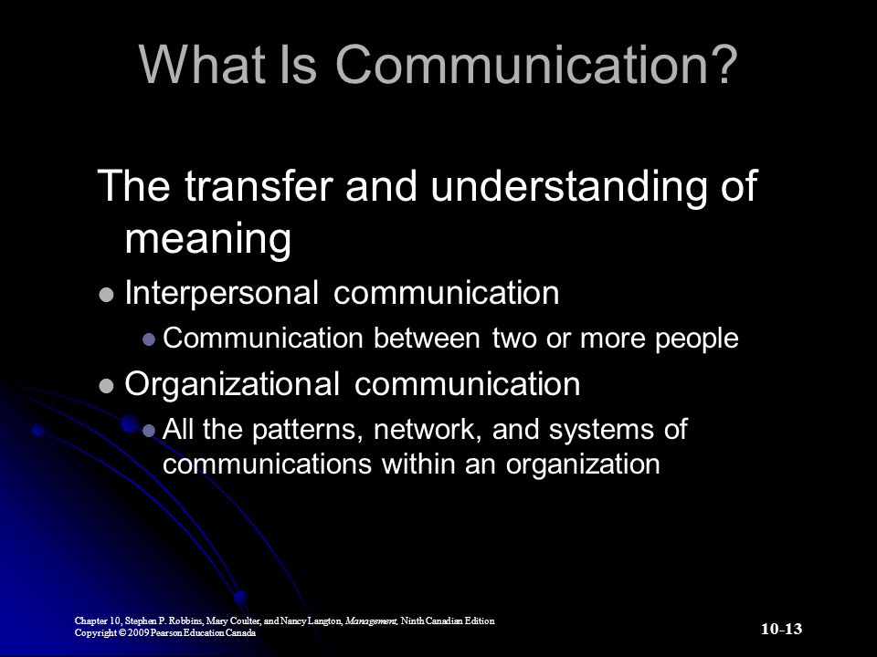 What Is Communication The transfer and understanding of meaning