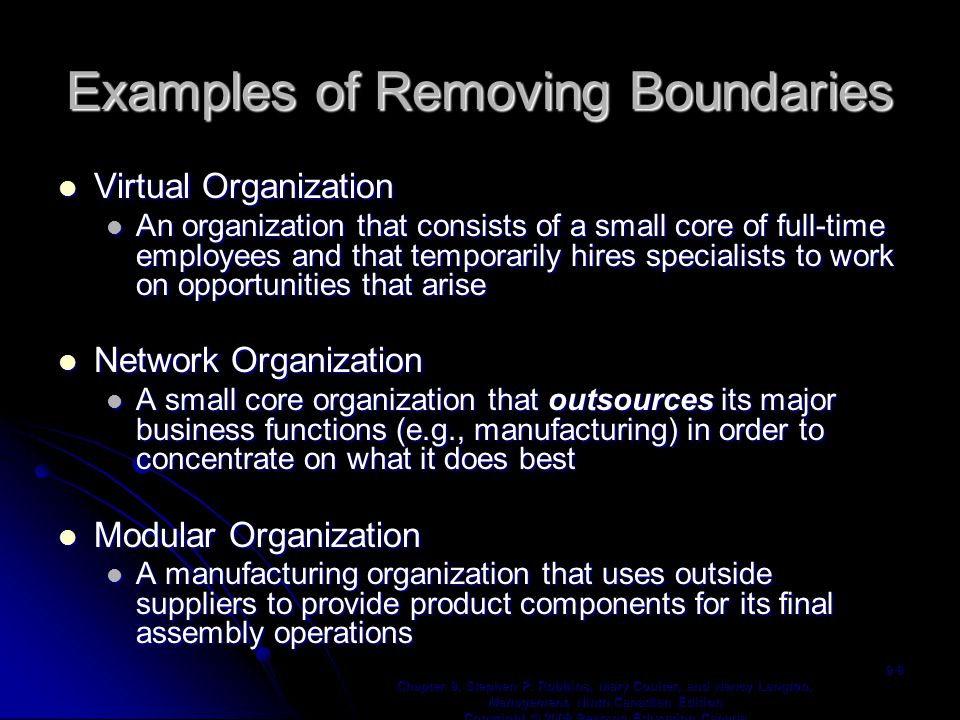Examples of Removing Boundaries