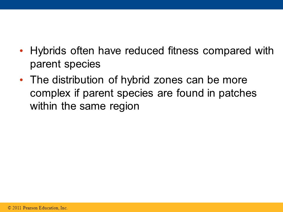 Hybrids often have reduced fitness compared with parent species