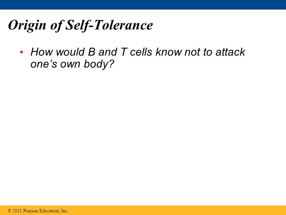 Origin of Self-Tolerance