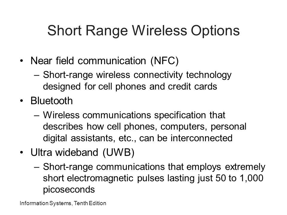Short Range Wireless Options