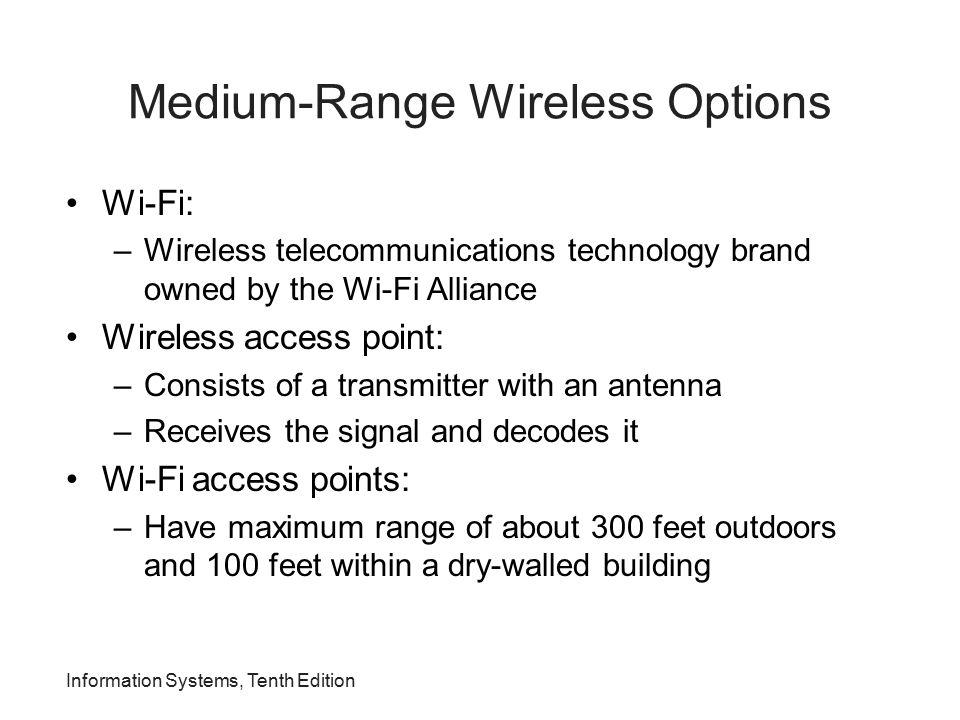Medium-Range Wireless Options