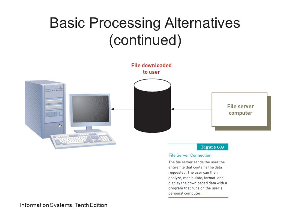 Basic Processing Alternatives (continued)