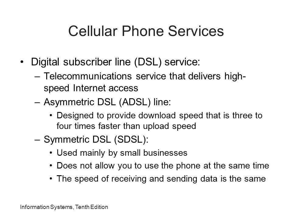 Cellular Phone Services