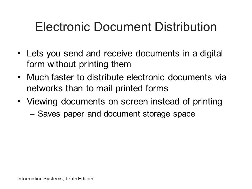 Electronic Document Distribution