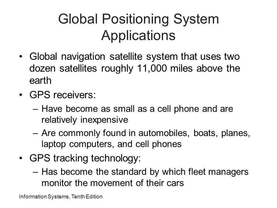 Global Positioning System Applications