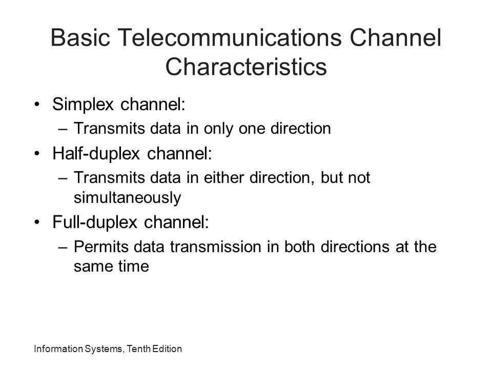 Basic Telecommunications Channel Characteristics