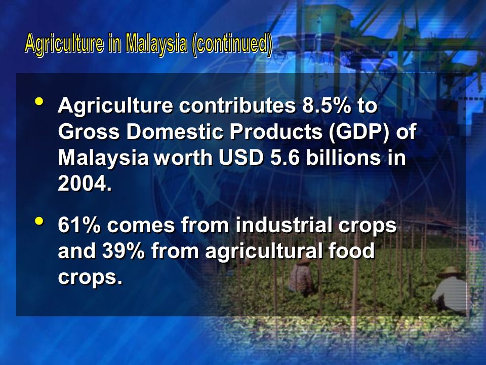 Agriculture in Malaysia (continued)